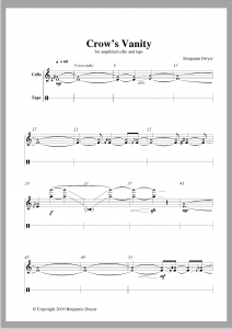 Crow's Vanity Page 3 -- Sample of music typesetting by Playright Music Ltd. Ireland + UK