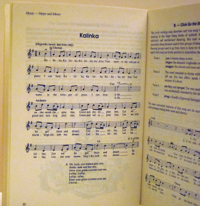 Song: Kalinka p 22: Music Major and Minor, Music Typesetting: Playright Music Ltd.