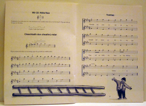 Work Sample:  Top quality page design featuring music notation by Playright Music Ltd., London, UK