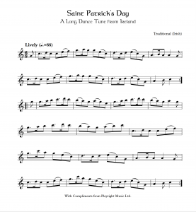 Saint Patrick's Day A Long Dance Tune from Ireland
