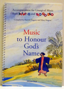 Sample of music typesetting in a religious book by Playright Music Ltd.