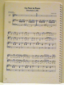 Sample of music typesetting in a religious book by Playright Music Ltd., London