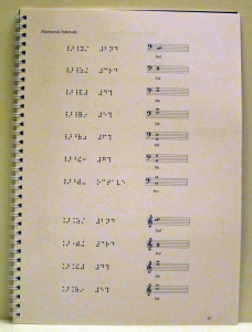 Work sample of design and typesetting of a text book, involving common music notation and Braille music, by Playright Music Ltd.