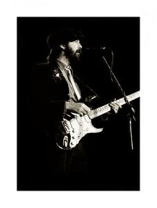 Eric Clapton on stage in Dublin, Ireland, 1979