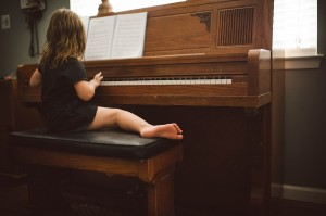 Little Toes and Piano Notes